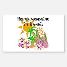 Honeymoon Hawaii Rectangle Decal