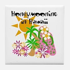 Honeymoon Hawaii Tile Coaster