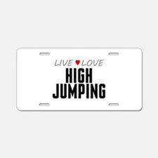 Live Love High Jumping Aluminum License Plate