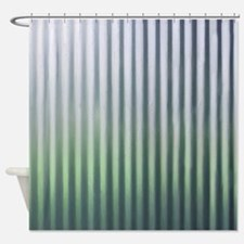 Distressed Corrugated Tin Shower Curtain