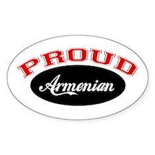 Proud Armenian Oval Decal