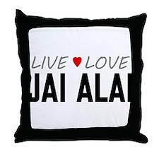 Live Love Jai Alai Throw Pillow