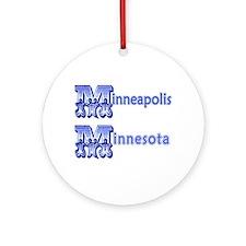 Minneapolis MN Ornament (Round)