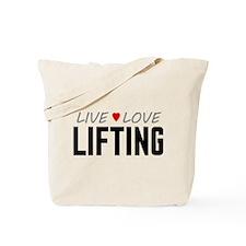 Live Love Lifting Tote Bag
