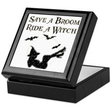 Save a Broom Ride a Witch Keepsake Box