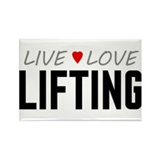 Live Love Lifting Rectangle Magnet (100 pack)