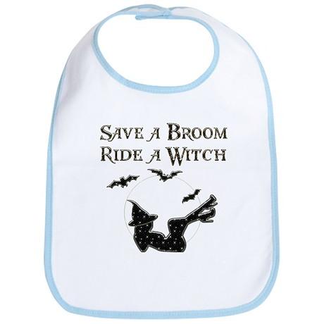 Save a Broom Ride a Witch Bib