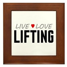Live Love Lifting Framed Tile