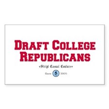 Draft College Republicans! Rectangle Decal