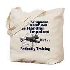 Portuguese Water Dog Agility Tote Bag