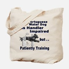 Portuguese Water Dog Agility Tote Bag