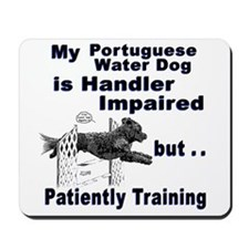 Portuguese Water Dog Agility Mousepad
