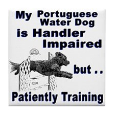 Portuguese Water Dog Agility Tile Coaster