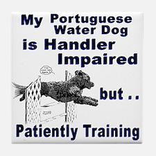 Portuguese Water Dog Agility Tile Coaster