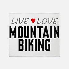 Live Love Mountain Biking Stadium Blanket