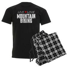 Live Love Mountain Biking Pajamas