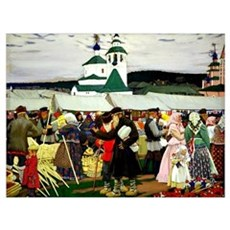 Kustodiev - The Fair Framed Print