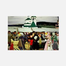 Kustodiev - The Fair Rectangle Magnet