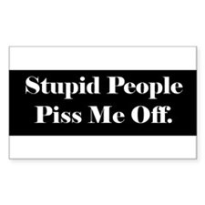 Stupid People... Rectangle Decal