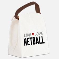 Live Love Netball Canvas Lunch Bag