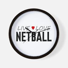 Live Love Netball Wall Clock