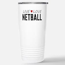Live Love Netball Ceramic Travel Mug