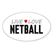 Live Love Netball Oval Stickers