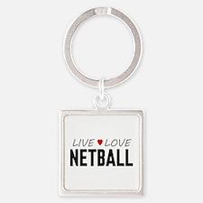 Live Love Netball Square Keychain