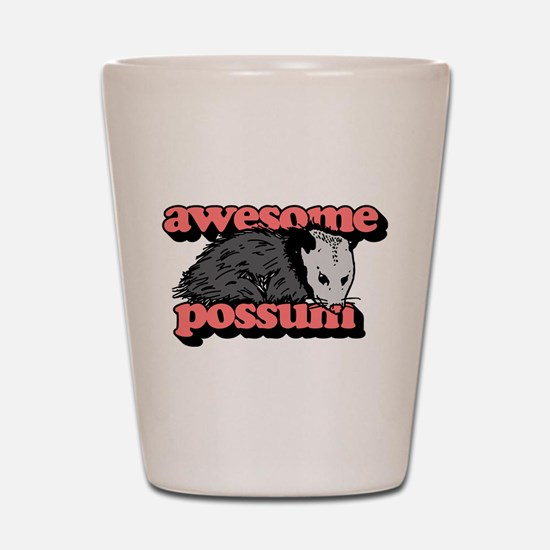 Awesome Possum Shot Glass
