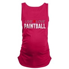 Live Love Paintball Maternity Tank Top