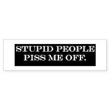 Stupid people 2 Bumper Bumper Sticker