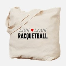 Live Love Racquetball Tote Bag