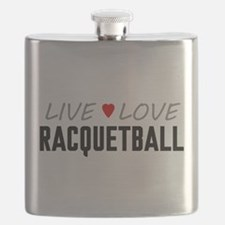 Live Love Racquetball Flask