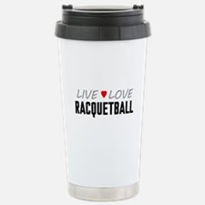 Live Love Racquetball Ceramic Travel Mug