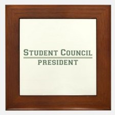 Student Council President Framed Tile