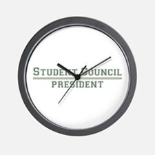 Student Council President Wall Clock