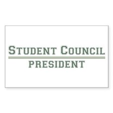 Student Council President Rectangle Decal