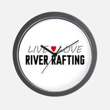 Live Love River Rafting Wall Clock