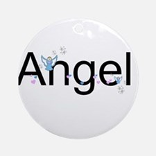 Personalizable Cute ANGEL Ornament (Round)