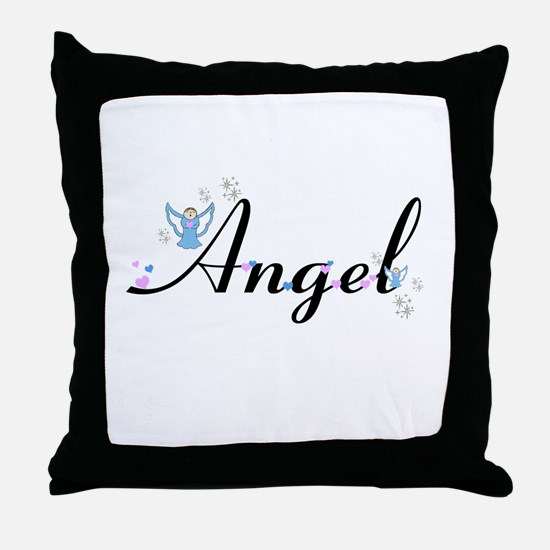 Personalizable Cute ANGEL Throw Pillow