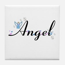 Personalizable Cute ANGEL Tile Coaster