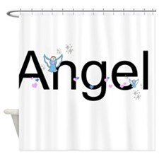 Personalizable Cute ANGEL Shower Curtain