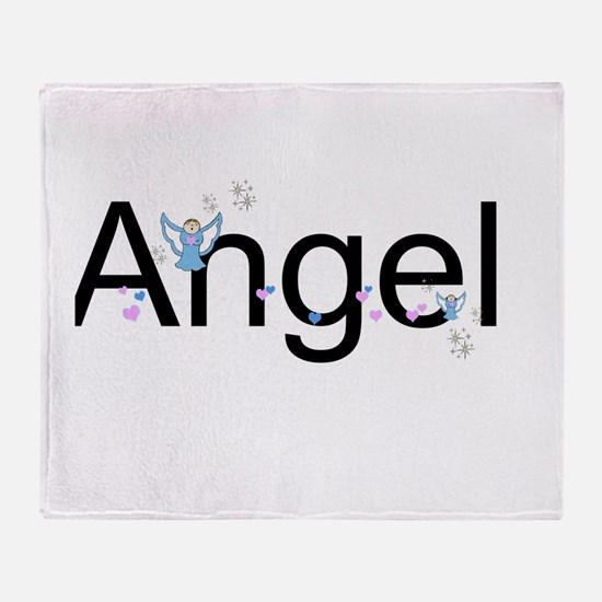 Personalizable Cute ANGEL Throw Blanket