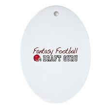 Fantasy Football Draft Guru Oval Ornament