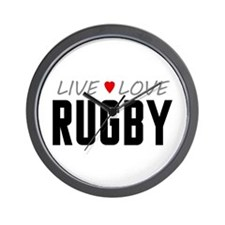 Live Love Rugby Wall Clock