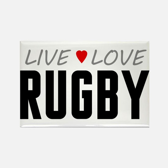 Live Love Rugby Rectangle Magnet