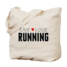 Live Love Running Tote Bag