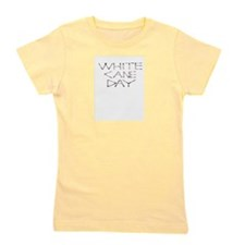 White Cane Day words Girl's Tee