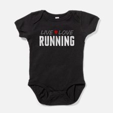 Live Love Running Baby Bodysuit