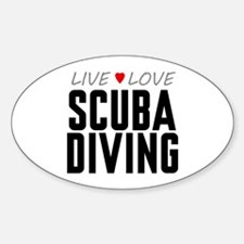 Live Love Scuba Diving Oval Decal